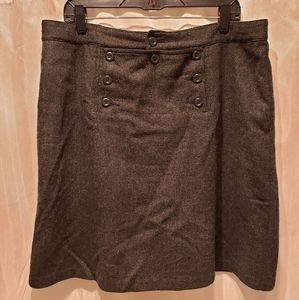 Charcoal Gray Wool Navy Pant Style Skirt